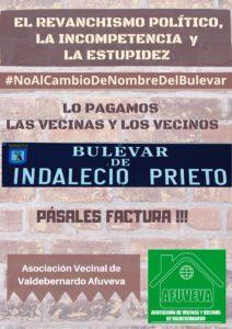 Cartel NoAlCambioDelNombreDelBulevar_Octu2020